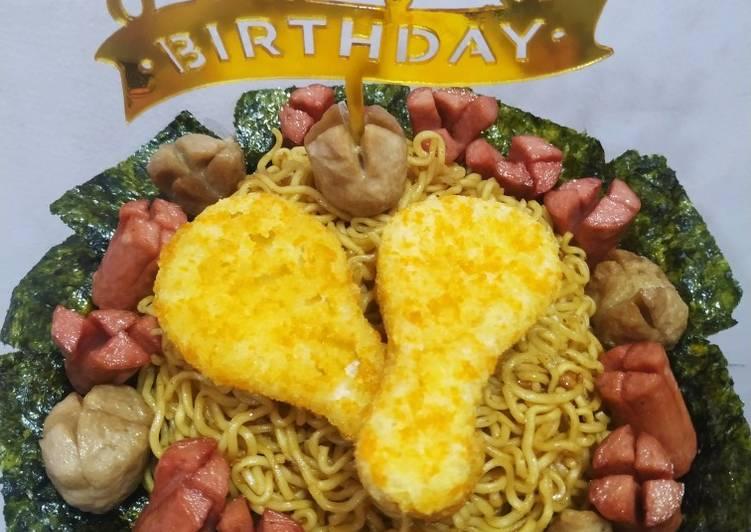 Resep Indomie birthday cake Terbaik