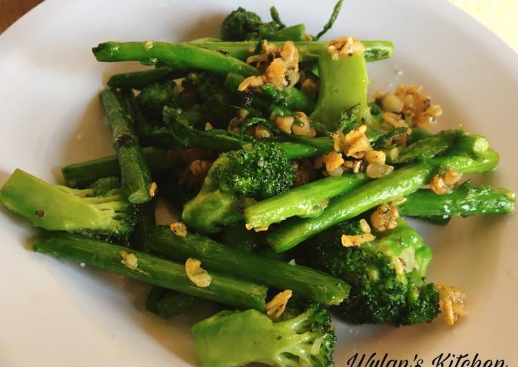 Stir Fried Asparagus & Broccoli