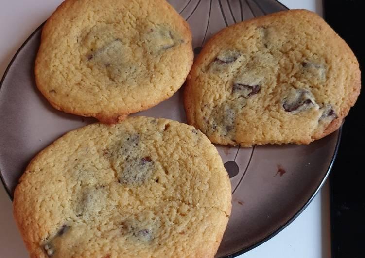 Recette Délicieuse Cookies moelleux chocolat