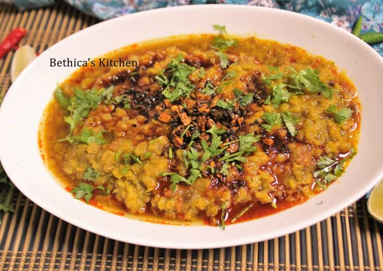 Masoor Dal Tadka (Tempered Red Lentil Curry) Finding Nutritious Fast Food