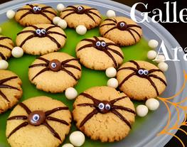 Receta galletas araña, galletas caseras ideales para Halloween