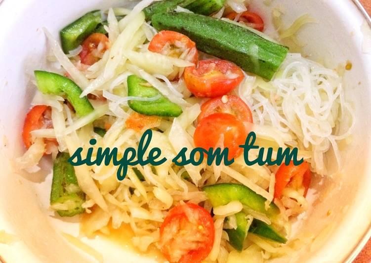 Resep Papaya Salad / Som Tum Yang Populer Pasti Enak