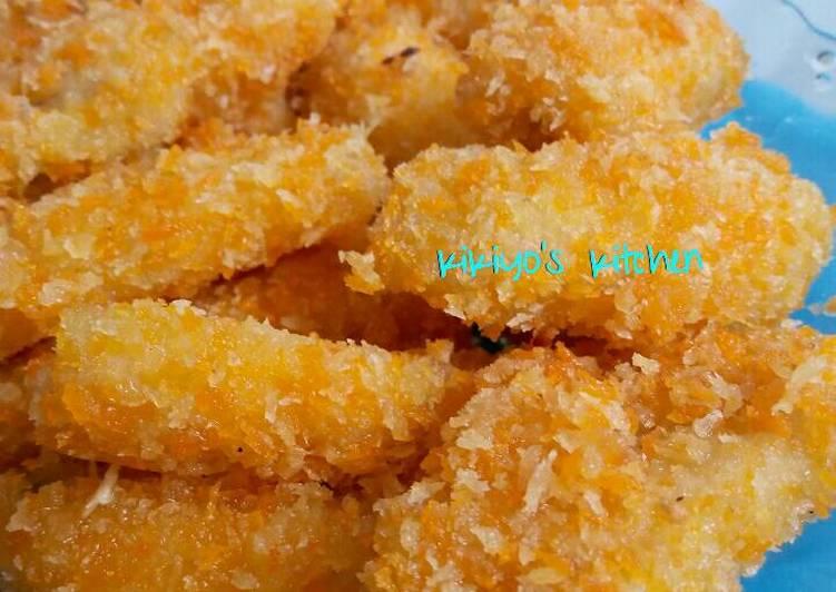 Pisang goreng pasir / pisang tepung panir