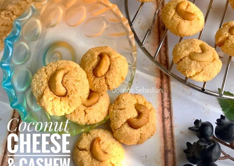 Coconut Cheese & Cashew Cookies -Keto