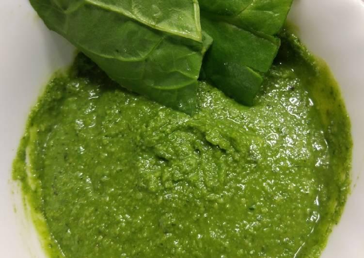 Salsa Pesto Con Espinacas Receta De Dale Candela Cookpad