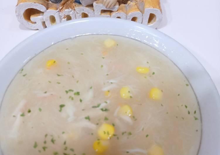 Sup jagung kepiting
