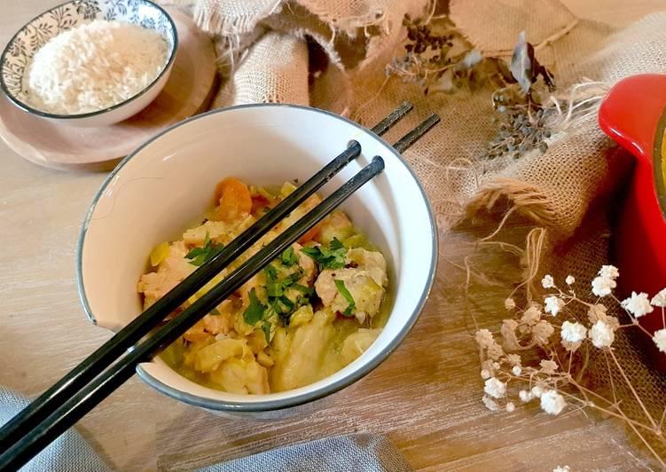 Bouillon thaï de poisson et ses petits légumes