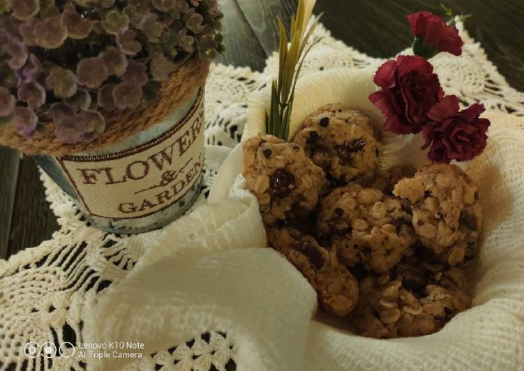Crunchy Oatmeal Corn Oil Cookies (no mixer, no oven)