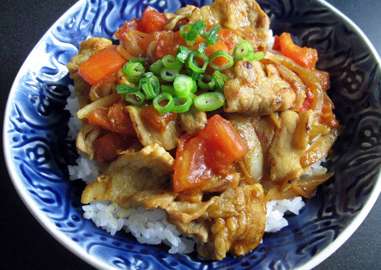 Curry Pork Don Finding Healthy Fast Food