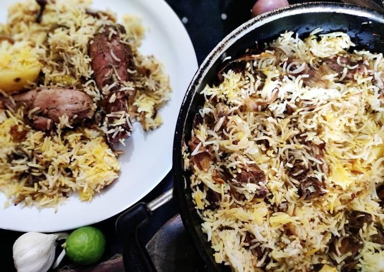 Chicken dum Biriyani kolkata style