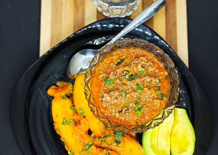 Step-by-Step Guide to Prepare Homemade Green bananas(matoke) and minced meat