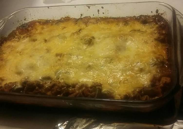 Veggie and meat lasagna