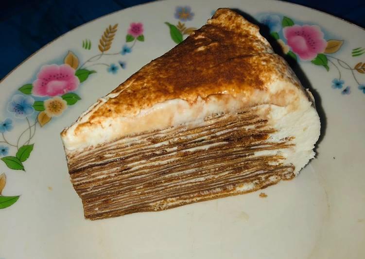 Milo crepes cake