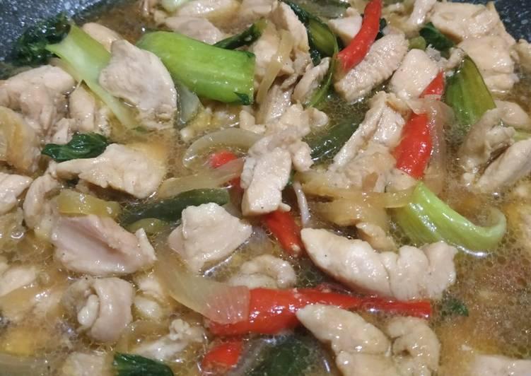 Cah Ayam Pokcoy
