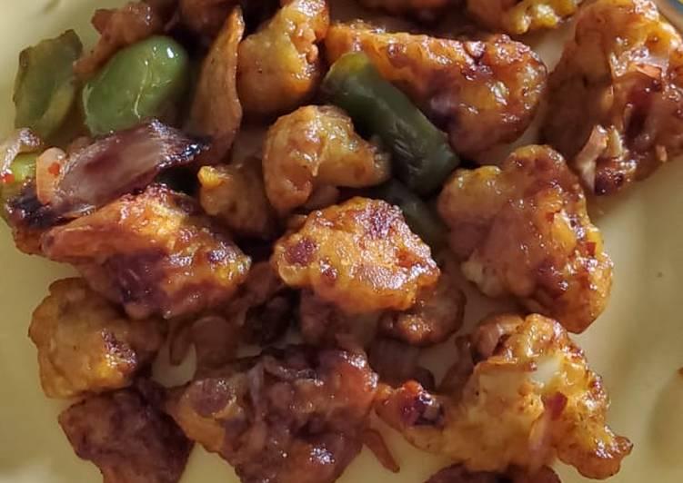 Easiest Way to Make Appetizing Spicy Cauliflower Manchurian