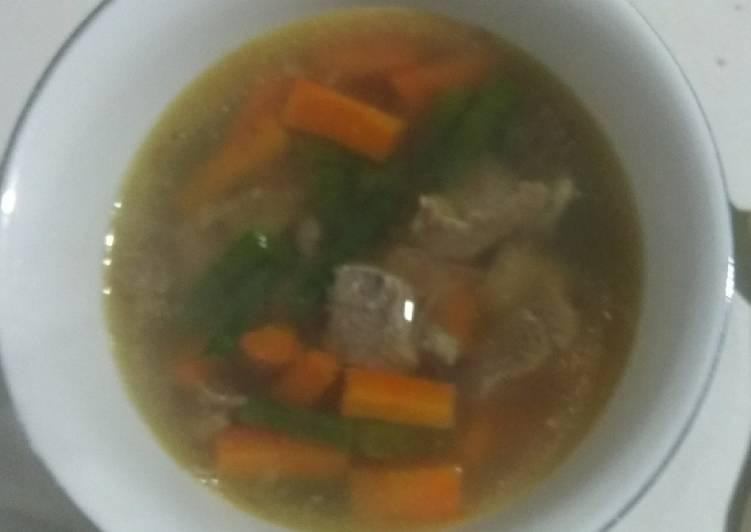 Sup Daging Mix Wortel dan Kacang Panjang ala Bunda Asri