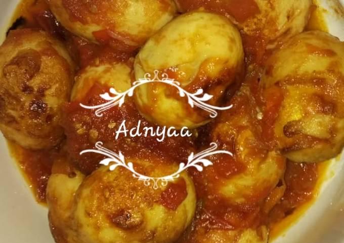 Resep Telur Balado Simple Enak Rabubaru Oleh Adnya Anandadhyaksa Cookpad