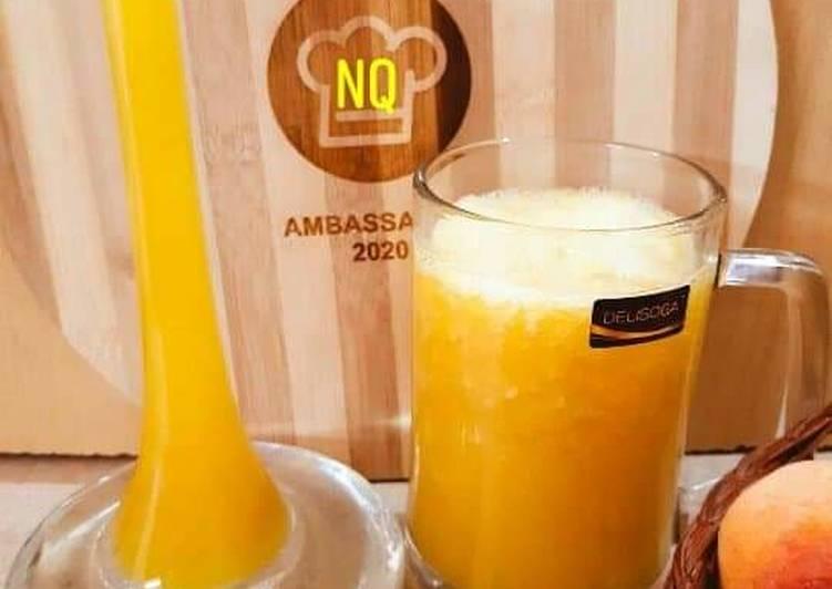 Easiest Way to Prepare Homemade Mango Peach Juice