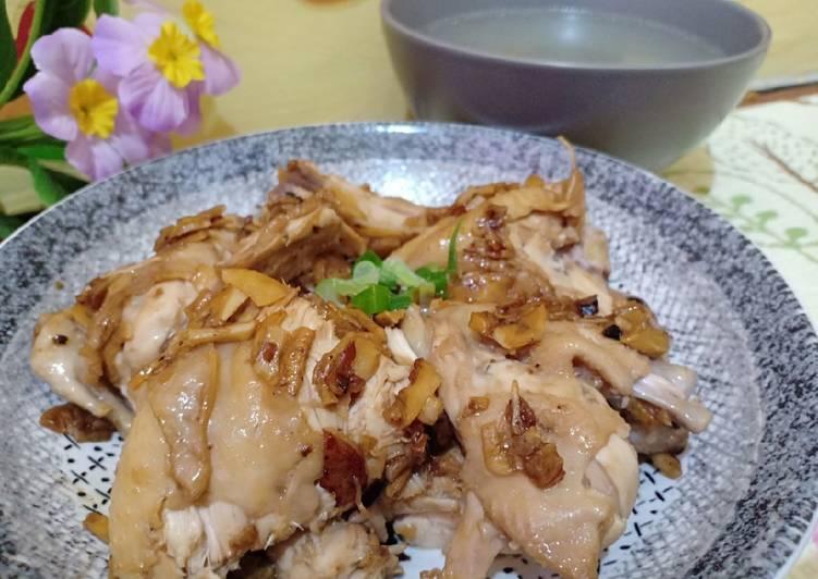 Resep Ayam Rebus Teman Nasi Hainan Oleh Shasaishaa Cookpad