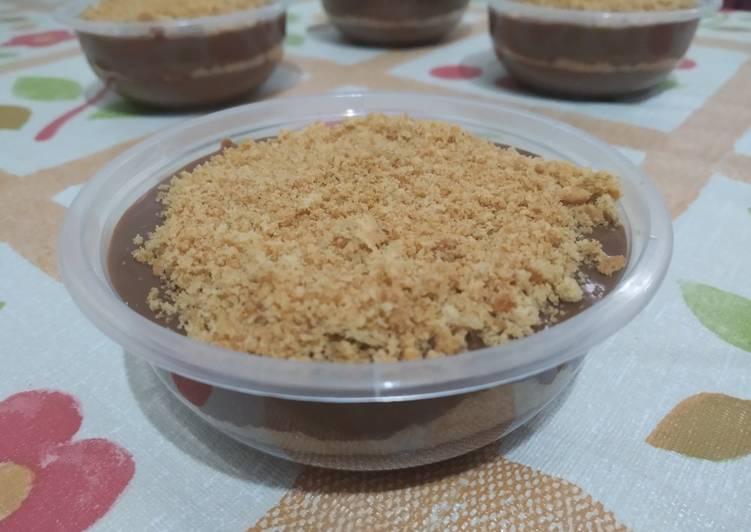 resep cara buat Milo Custard Pudding