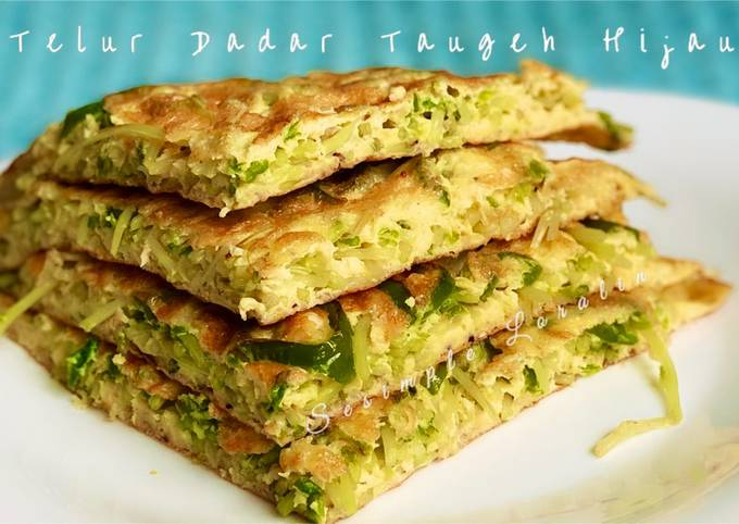 Telur Dadar Taugeh Hijau (Chinese Style Eat Clean Healthy Green Sprout Frittata)