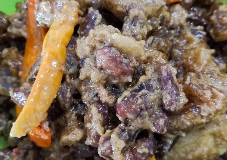 Sambel krecek kacang merah