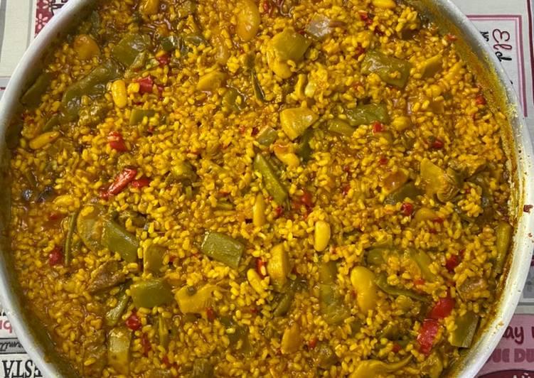 Paella valenciana con secreto Realfood