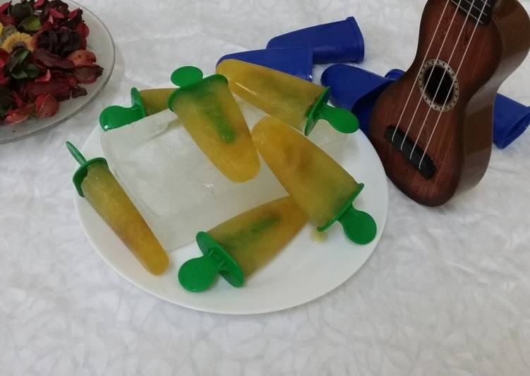 How to Cook Perfect Green Tea Popsicles with Lemon and Honey