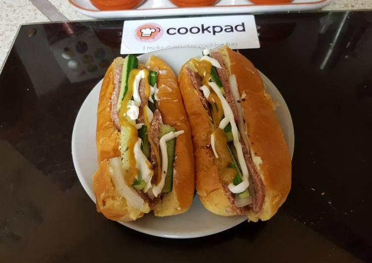Easiest Way to Make Appetizing My Hot Dog Bun Sandwich.🙄
