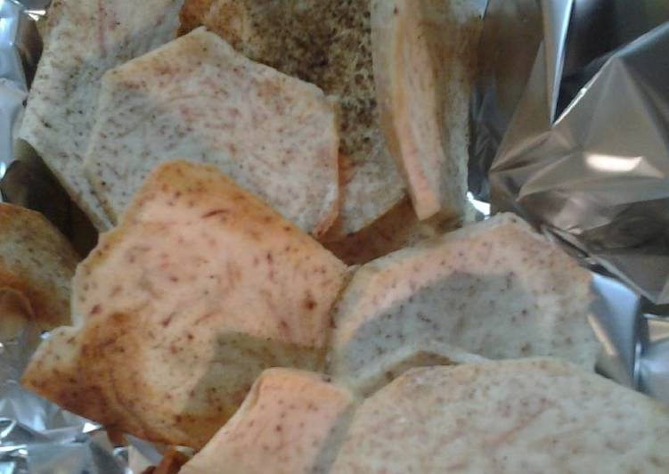Simple Way to Prepare Super Quick Homemade Taro chips baked