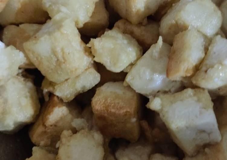 Recette: Tofu frit avec sauce