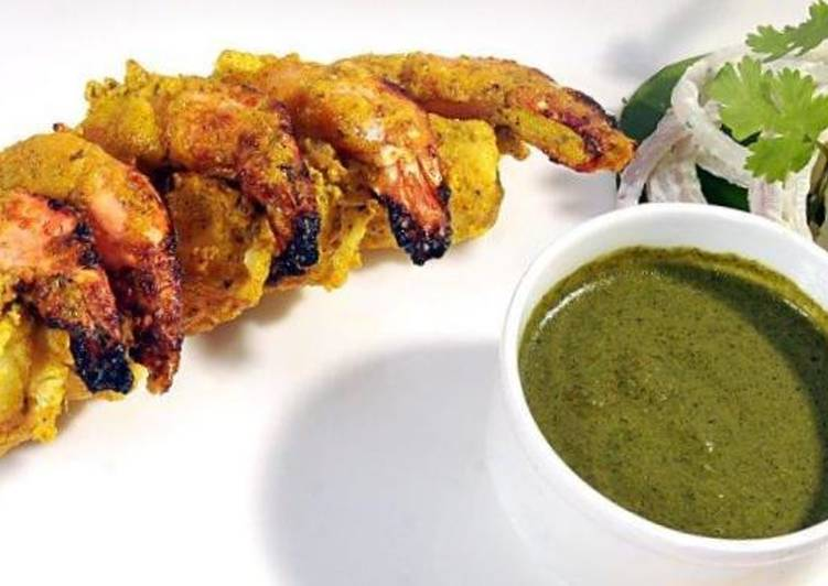 Recipe: Perfect Roasted Mustard PRAWN (tawa grilled or oven roasted)
