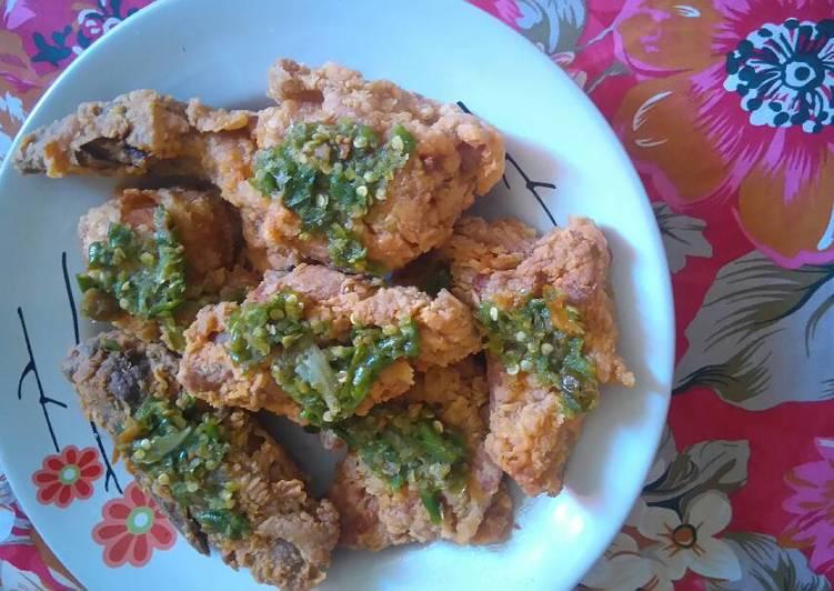 Ayam geprek sambel ijo ala2