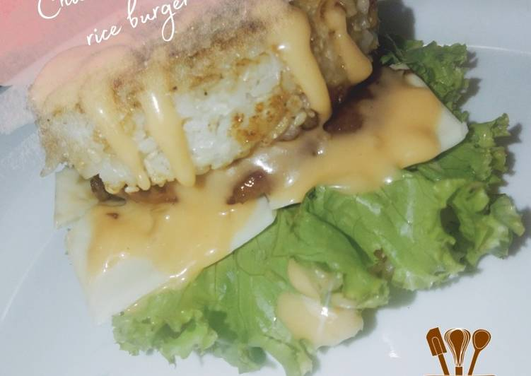 Chicken teriyaki rice burger