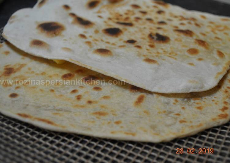 Recipe of Any-night-of-the-week Flat  Naan  Bread نان تافتون