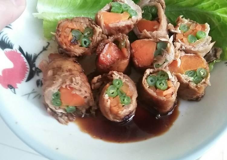 Vegetable beef roll