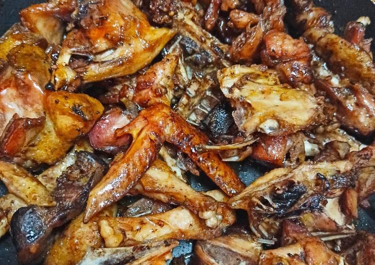 Honey glaze/sugar glazed kienyeji chicken
