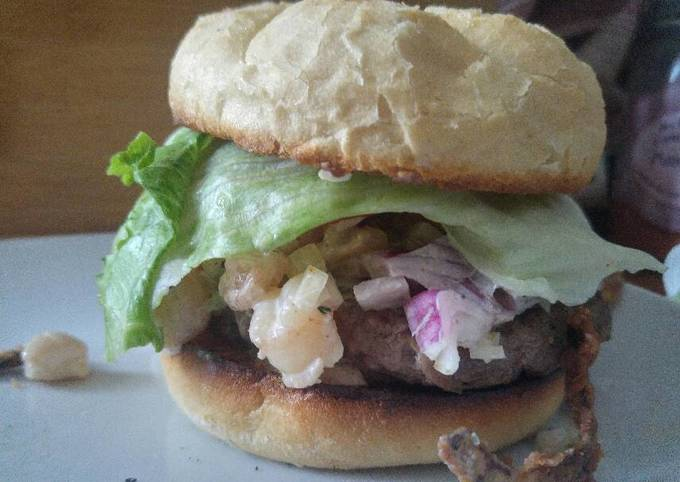 Easiest Way to Make Perfect Surf and Turf Burger