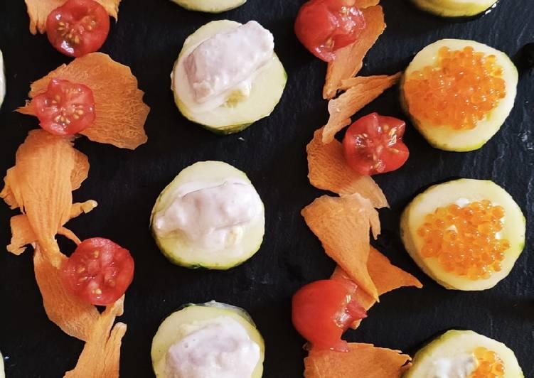 La Meilleur Recette De 💮 Bouchées d'été - variante thon Tahitienne et œufs de truite