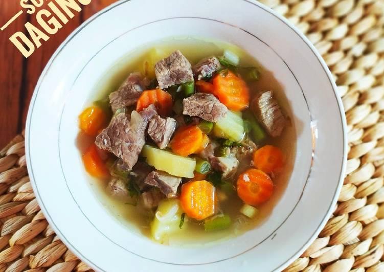 Resep Sup Daging & Sayuran yang Lezat Sekali