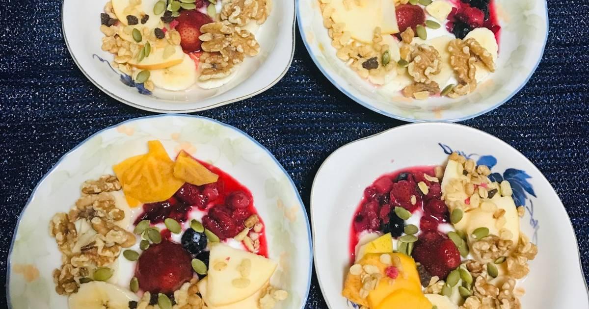 Salsa de yogur para ensalada waldorf