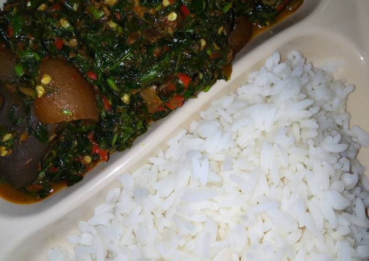 VEGETABLES SAUCE/WHITE RICE. #Abujamegacookout# - Laurie G Edwards