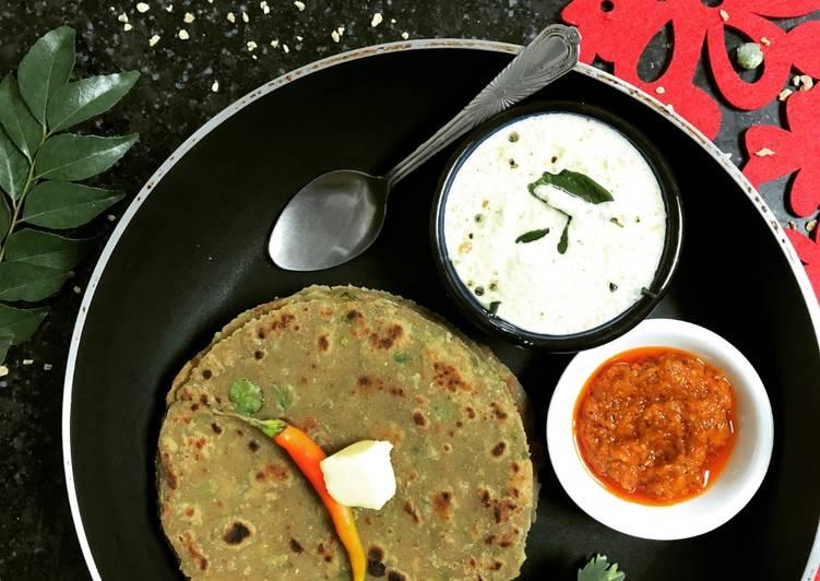 25 Minute Simple Way to Prepare Love Soya Peas Paratha