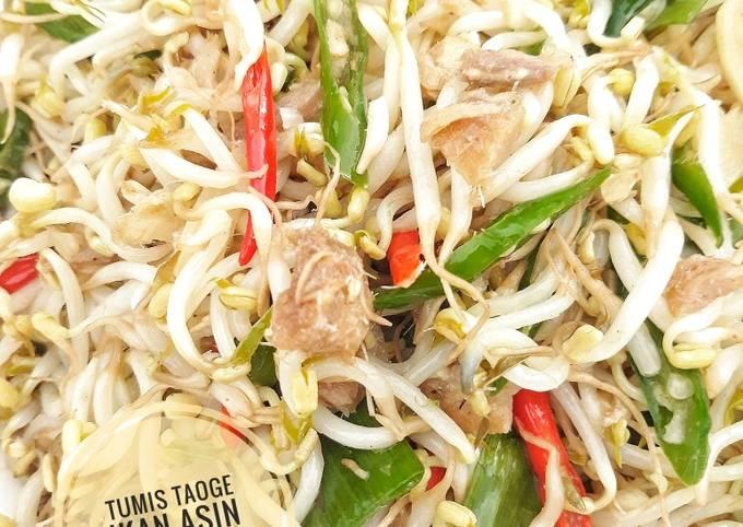 Resep memasak Tumis Taoge Ikan Asin yang enak Untuk Jualan