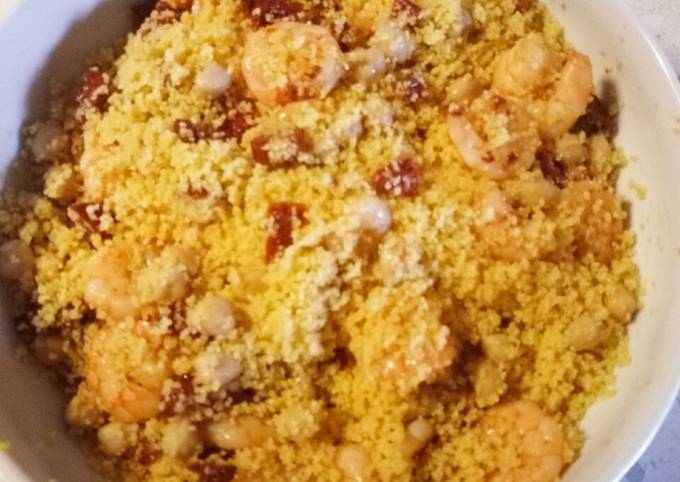 Warm and spicy cous cous salad