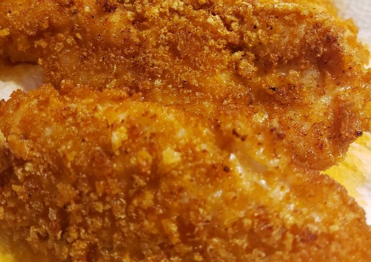 Pork Rind Crusted Chicken Tenders (low carb)