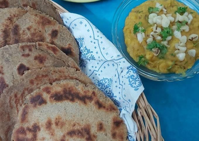 Homemade Multigrain Bhakri with Spiced Dal
