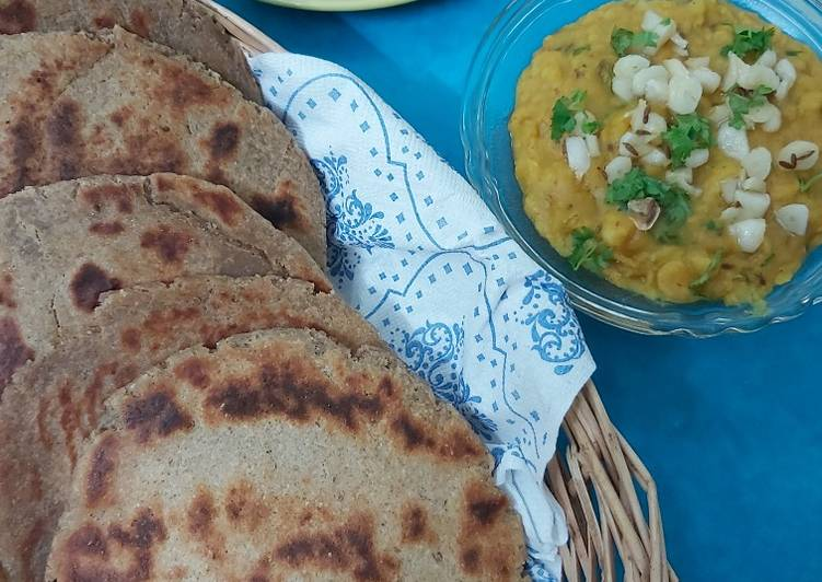 Homemade Multigrain Bhakri with Spiced Dal
