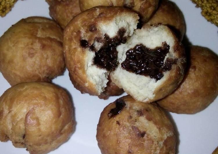 Roti goreng isi coklat simple n maknyus