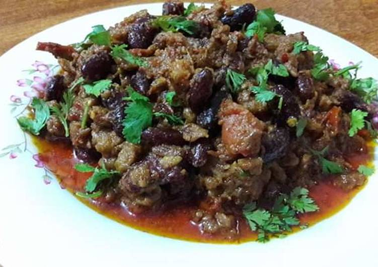 Grandmother's Dinner Ideas Speedy Rajma qeema